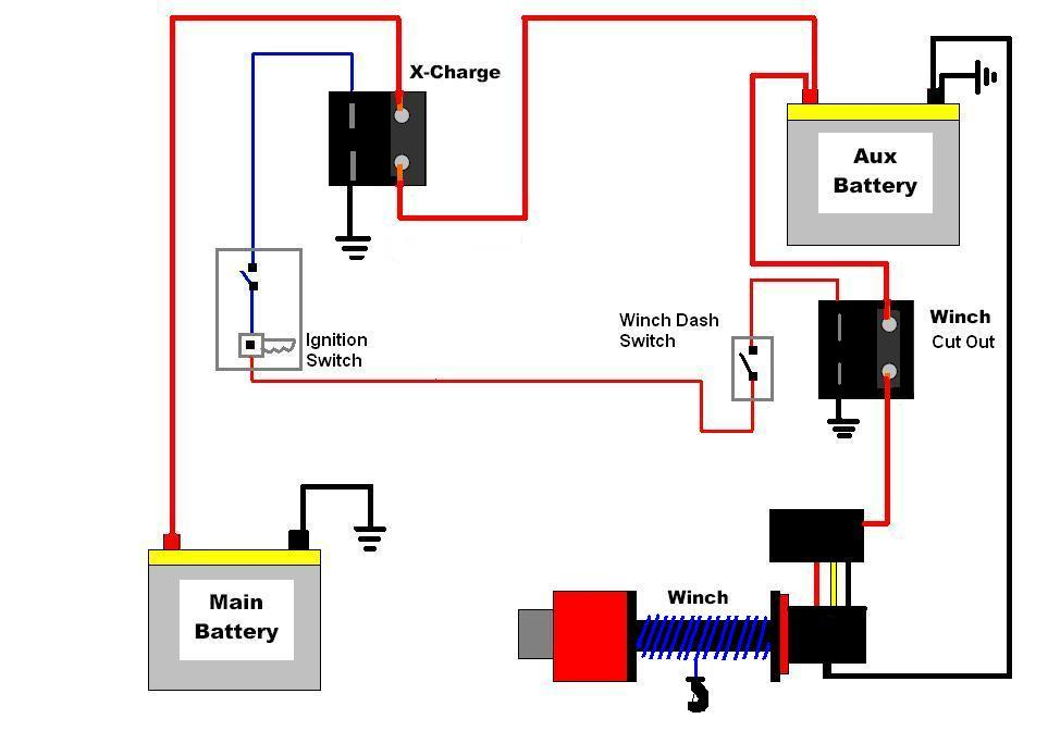Wiring Diagram For Dual Battery System: Dual Battery Wiring Diagram 6 Battery Isolator Wiring\sc:1st ,Design