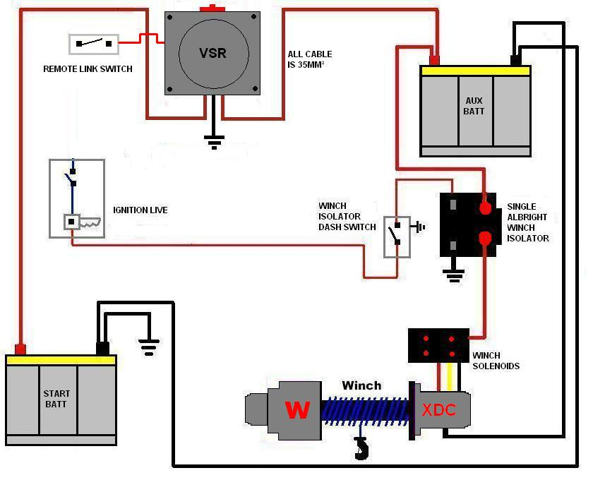 WINCH_SPLIT_CHARGE_WIRING arb dual battery wiring diagram battery charger wiring diagram 12 Volt Solenoid Wiring Diagram at readyjetset.co